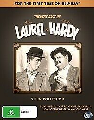 Laurel & Hardy 5 Film Collection Blu-ray New & Sealed 3 Discs
