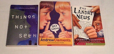 LOT 3 ANDREW CLEMENTS Chapter BOOKS The Landry News No Talking Things Not Seen