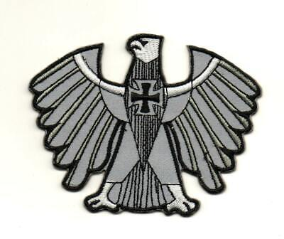 German Eagle Iron Cross Vest P803 Embroidered Iron on Patch High Quality Jacket