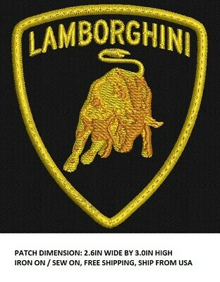 **Love It Or Its Free** Lamborghini Custom Made Crest Embroidered Patch