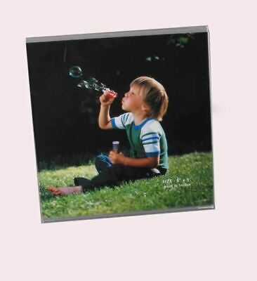 Speert Acrylic Photo Frame Model 354 L Shape Stand Up Picture Clear