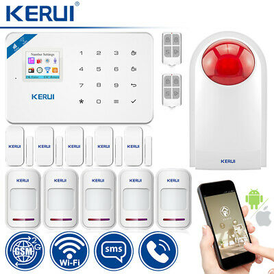 KERUI W18  WIFI GSM Apartment Alarm System Outdoor Siren Security Burglar Sensor