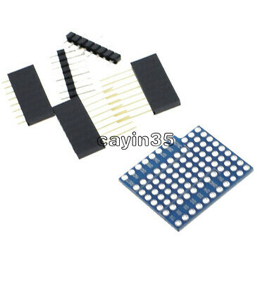 ProtoBoard Shield for WeMos D1 mini double sided perf board Arduino Compatible K