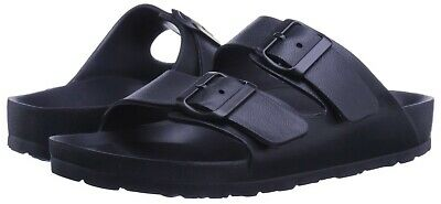 Mens Double Strap Buckle Slide Soft Footbed Sandal Beach Shower Pool Navy 11
