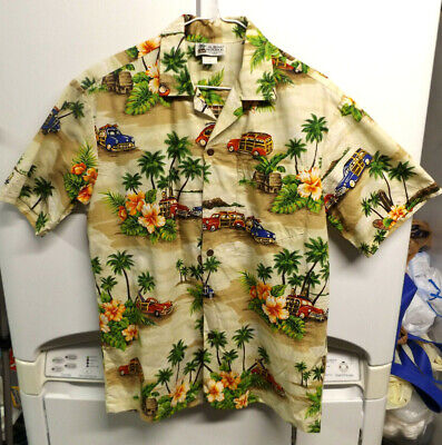 2c2f69dc HAWAIIAN ALOHA REPUBLIC Mens 2XL XXL Volkswagen Beetle Bug Old Cars ...