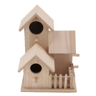 Nk51 Nichoir Nid Cabane Oiseau Bois Couleur Other Bird & Wildlife Accs Yard, Garden & Outdoor Living