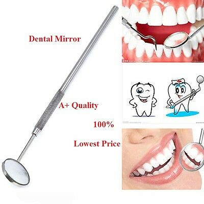 Pro Dental Mouth Inspection Mirror + Handle Dentist Dentistry Tool Instrument PL