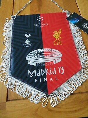 Champions League Final 2019 Tottenham Liverpool Official Double Sided Pennant