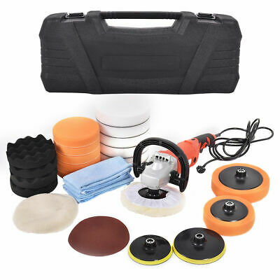 Car Polishing Machine Sander Polisher Buffer 3000 rpm XXL Sponge Kit Box Polish