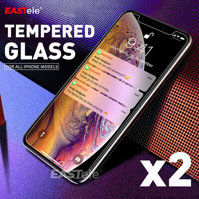 Eastele Tempered Glass Screen Protector For Apple Iphone Xs Max Xr 8 7 6S Plus
