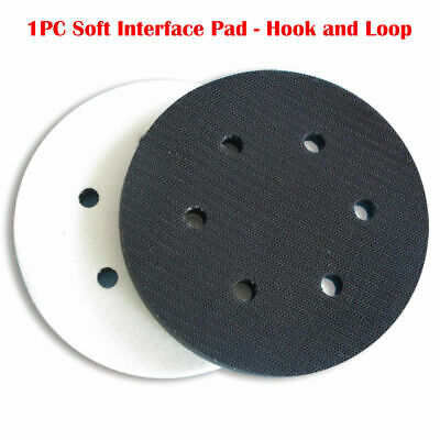 "6"" 150mm Interface Cushion Pad 6 Hole Hook and Loop Foam Protecting Sanding Disc"