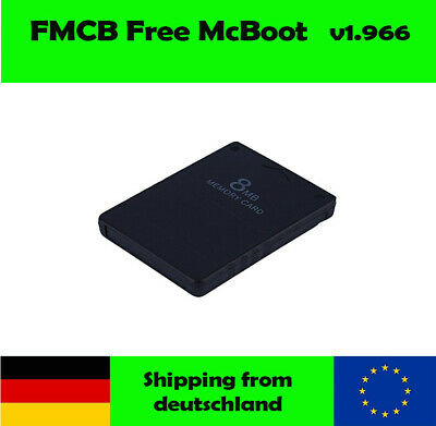 PlayStation 2 PS2 Sony 8MB Memory Card Speicherkarte mit FMCB Free McBoot 1.966