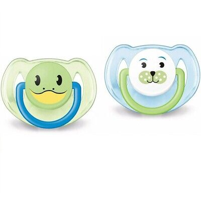 Philips Avent Freeflow green blue 2 Pack Silicone Soother Birds 6-18m