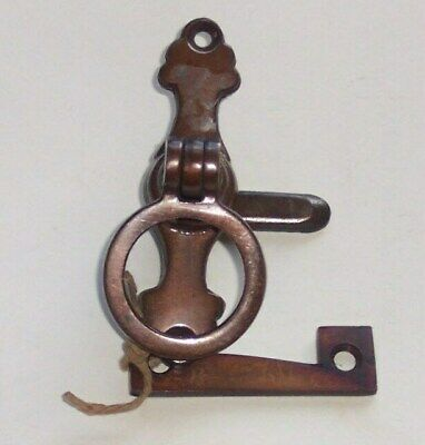 2 Off Unused Old Stock Brass Finger Pull / Turn  Door Catch / Latch  As Pictures