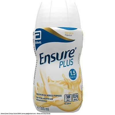 56 x 200ml Ensure Plus Milkshake Mixed Flavour