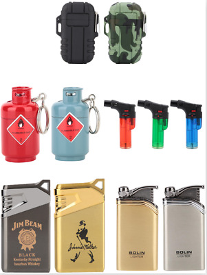 Multifunctional Gas Cigarette Lighters Lightweight Travel Camping Flame Igniters