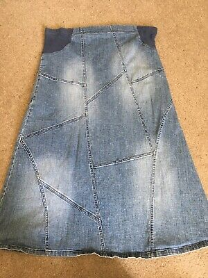 Mothercare Maternity Denim Maxi Skirt 12