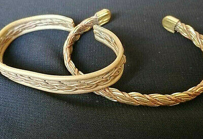 Lot Of 2 Ancient Bracelets VIKING BRONZE Twisted museum quality VERY Stunning