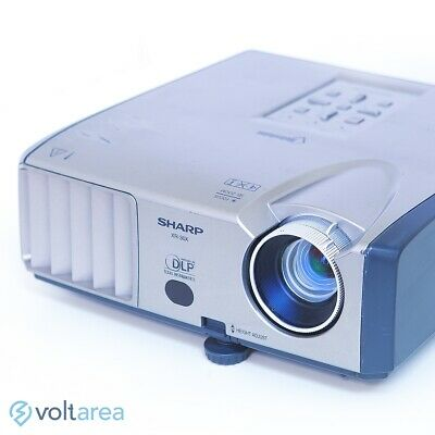 Sharp XR-30X DLP Projector add Remote and cables