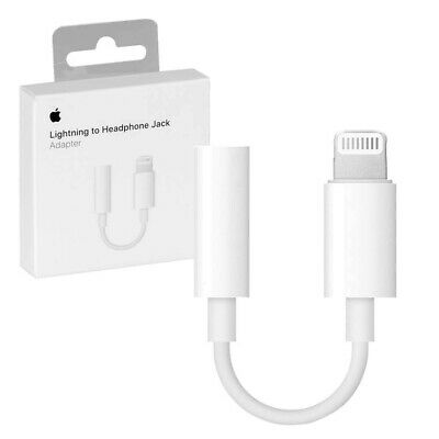 Genuine Apple Lightning to 3.5mm Headphone Jack Adapter iPhone 7,7+8,8,X,XS MAX