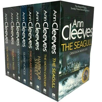 Ann Cleeves Vera Stanhope 8 Books Series Collection Set (The Seagull,Glass Room)