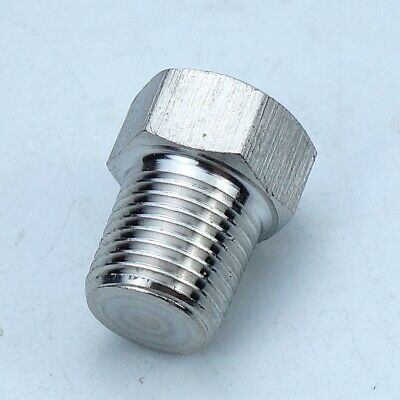 """5pcs stainless steel 304 Pipe Fitting Plug 1/4"""" MIP NPT Male"""