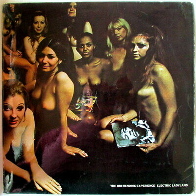 JIMI HENDRIX ELECTRIC LADYLAND UK TRACK BLUE LETTERING TRACK NAKED COVER psych
