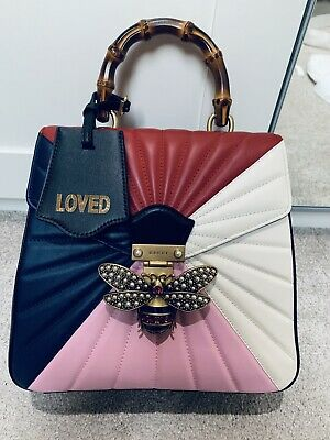 7a4edef9098f Fab Authentic Gucci Queen Margaret Leather Backpack Three Way Bag Sold Out  ❤️