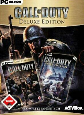 CALL OF DUTY DEUTSCH + UNITED OFFENSIVE ADD-ON PC-SPIEL GOLD DELUXE Video Game