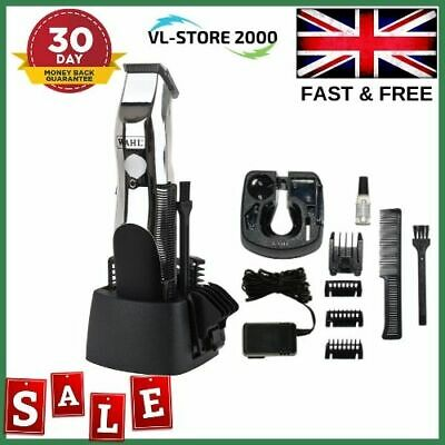 Professional Hair Clippers Mens Wahl Cordless Trimmer Set Beard Cut Moustache