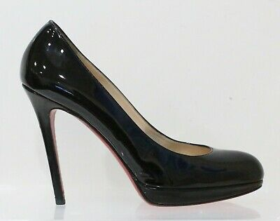 ad18622aea5 CHRISTIAN LOUBOUTIN SHELLY Patent Leather 90 Pumps Black, Size 38.5 ...