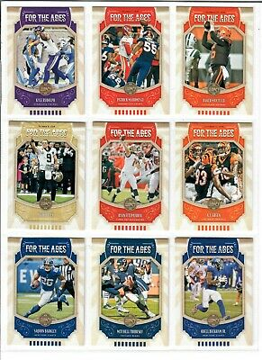 2019 Panini Legacy Football FOR THE AGES You Pick BAKER MAHOMES SAQUON BREES +++