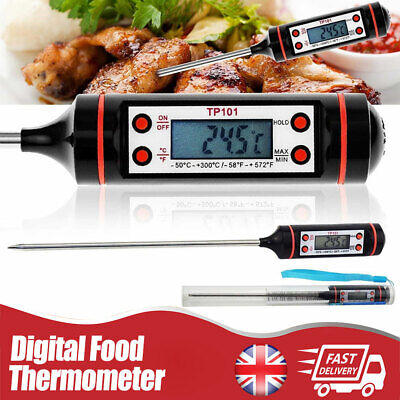 Digital Food Thermometer Probe Meat Turkey BBQ Kitchen Catering Cooking Tool UK