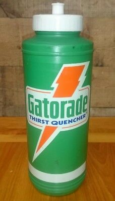 e5812ab9d0e VINTAGE GATORADE THIRST Quencher 1985 Plastic Training Bottle (empty ...