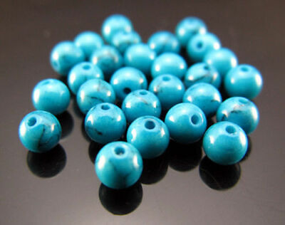 4mm Round gemstone 200PCS bead TOP Turquoise 31.5 spacer Free Inch Findings Blue