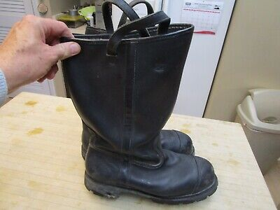 Black Weinbrenner Boots Firefighter 11 XW Leather Pull-up