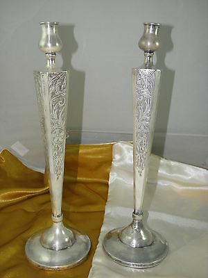 Sterling Silver Weighted Pair Candlesticks Holders Shabat Candle Holders ,10