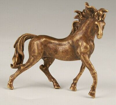 Chinese Bronze Hand Cast Horse Figurines Statue The Cool Gift Collection Old