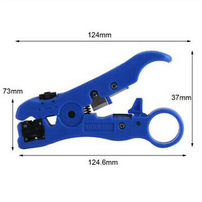 Coaxial Cable Cutter Stripper Coax for RG59 RG7 RG11 RG6 Cat5//6e Wire Stripping