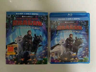 How to Train Your Dragon Hidden World (Blu-ray and DVD, 2019) - FREE SHIPPING