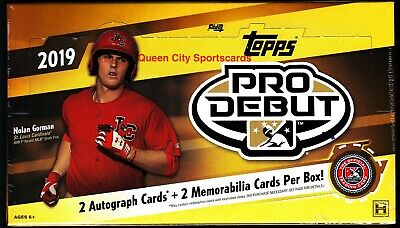 2019 Topps Pro Debut Baseball Factory Sealed Hobby Box