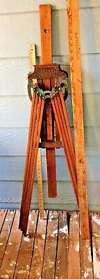 """ANTIQUE WOOD """"Beauty"""" 8 ARM CLOTHES DRIER RACK-WALL MOUNTED, PERFECTION"""