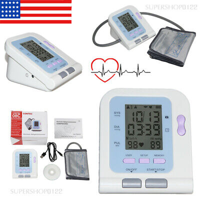 USA FDA Automatic Blood Pressure Monitor Upper Arm Digital BP Machine Adult Cuff