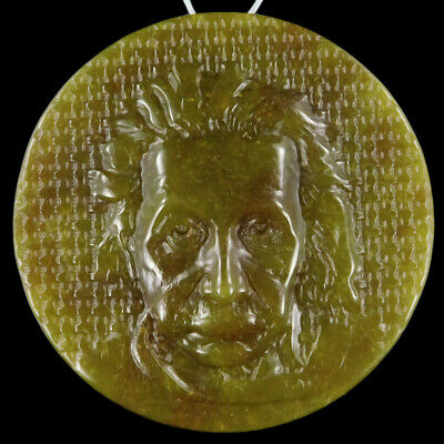 Carved Albert Einstein Bead C EH504032