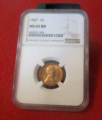 1967  NGC MS 65 RD Red Lincoln Memorial Cent                            #MF-1463