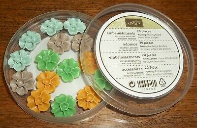 Stampin Up Retired 2015-2017 IN COLOR BLOSSOM ACCENTS 16 Pieces RARE HTF