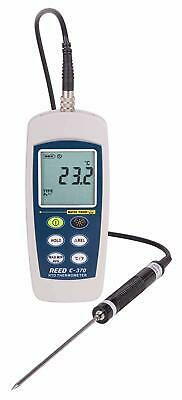 REED Instruments C-370 RTD Thermometer, -148 to 572°F (-100 to 300°C), Waterpr