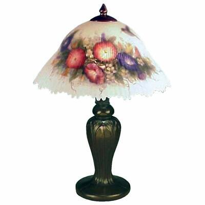 Dale Tiffany 10190/706 Hummingbird/Flower Table Lamp, Antique Bronze and Glass/H
