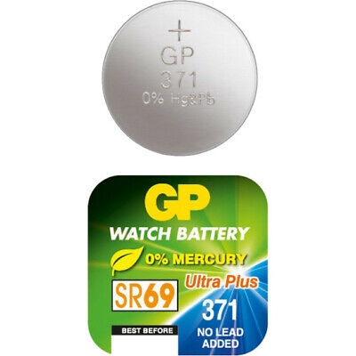 SR920SW GP 1.55V Button Cell Silver Oxide 370 / 371 Battery Sr69