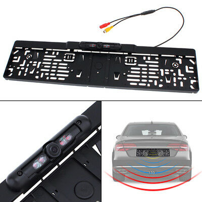 Car License Plate Frame Rear View Revers Backup Parking Night Vision Camera EUCP